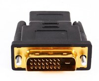 Wholesale hdtv convert - New Arrive Gold Plated DVI 24+1 HDMI Convert Male to Female Adapter Converter Cable Cabo for HDTV LCD