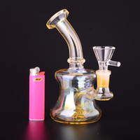 Wholesale Cheap Water - Cheap Big Tyre Perc Glass Bong Water Pipe with 14.5mm joint dry bowl free shipping BestGlass G37