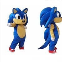 Wholesale Sonic Costume Adults - High Quality Hedgehog Sonic Mascot Costume Cartoon Character Party or Commercial Supply Adult Size
