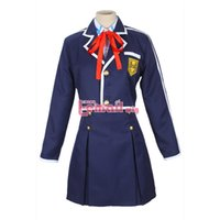 Wholesale Japanese Female Hot - Wholesale-Hot Japanese Anime Sword Art Online Asuna Cosplay Costumes School Uniform
