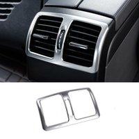 Wholesale Stainless Vent Covers - Stainless Steel Rear Air Conditioning Outlet Vents Frame Decoration Cover Trim For Mercedes Benz E class Coupe C207 2009-16