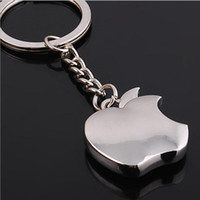 Wholesale Classic Cars Souvenir Gift - Apple Key Chain Classic Novelty Souvenir Metal Apple Keychain Creative Gifts Key Ring Trinket for Men Women Accept LOGO