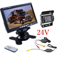 "Wholesale Truck Rear View Camera Wireless - 24V Car Rear View Wireless Backup Camera Kit+7"" TFT LCD Monitor For Truck Van"