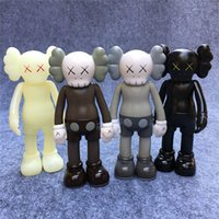 Wholesale Momo Doll - 4pcs Kaws Original Fake Action Figure Collection Doll Christmas Gifts Birthdays Toys Gloomy-Bear MoMo Bear POPOBE Qee Bearbrick