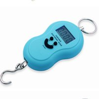 Wholesale Handy Hook - Brand new 40Kg 10g Portable Handy Pocket Smile Mini Electronic Digital LCD Scale Hanging Fishing Hook Lage Balance Weight Weighing Scales