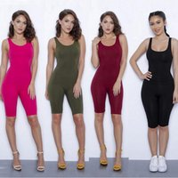 Wholesale Clubwear Black Romper - 2017 New Fashion Women Sexy Backless Playsuit Bodycon Sleeveles Clubwear Jumpsuit Romper Brand New Good Quality Free Shipping