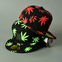 Wholesale Pot Leaf Wholesale - Wed Snapbacks Caps Hats Wed Pot Leaf Snapbacks Wed Hip-hop Rasta Maple Leaf Caps Plantlife Fashion baseball Hip-hop Ballcaps D469 3pcs