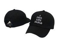 Wholesale Silver Baseball - I Feel Like Pablo Hats Baseball Caps 2016 Snapback Hats Hip Hop Fashion Sports Cap