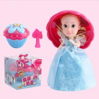 Wholesale Princess Presents - Cupcake Surprise Princess Doll Deformation Dolls Girl Beautiful Cute Toy Birthday Present Barbie Magic Toys 12 Styles OOA3256