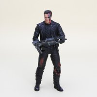 Wholesale Arnold Toy - hot The Terminator T-800 Arnold Schwarzenegger PVC Action Figure Collectible Model Toy about 18cm in opp bag