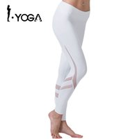 Wholesale Knee Length Pants For Women - Fitness Yoga Sports Leggings For Women Sports Tight Mesh Yoga Leggings Yoga Pants Women Running Pants Tights for Women K9-002