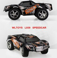 Wholesale Race Car Chassis - Wholesale- RC Car Wltoys L939 2.4G 5 channel High-speed Remote Control Race Car with Scale Black Alloy Chassis Structure Racing Vehicle