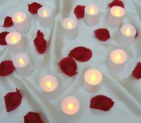 ingrosso ha portato le luci decorative per la casa-Tea Light 24pcs / Lot Luce tremolante senza fiamma Led Tealight Candele per tè Festa per matrimoni Luce decorativa per la casa
