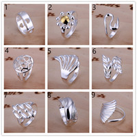 Wholesale Order Wholesale China - Factory direct sale 10 pieces diffrent style 925 silver rings GSSR002D Brand new mix order fashion sterling silver finger ring