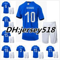 Wholesale Green Soccer Team Jersey - 2018 Italy kits soccer Jersey 17-18 WC national team CANDREVA CHIELLINI EL SHAARAWY BONUCCI INSIGNE IMMOBILE Verratti FOOTBALL SHIRTS