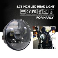 "Wholesale 9v Motors - CO LIGHT Headlight H4 5.75"" 40W Cree Chip High Low Beam 20W Led Headlamp Motorcycle Headlights For Harley Motor Bike 9V 12V"