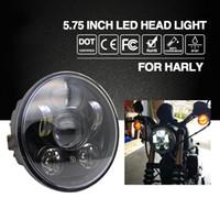 "Wholesale Led For Motor Bike - CO LIGHT Headlight H4 5.75"" 40W Cree Chip High Low Beam 20W Led Headlamp Motorcycle Headlights For Harley Motor Bike 9V 12V"