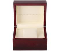logos gedruckt porzellan großhandel-Lack-glänzender einzelner hölzerner Uhrenbox-Größe 13x11x8cm, Druck-Logo für Förderung-Ereignis-Clamshell-hölzerner Kasten-China-Kasten-Großverkauf-Verpackung