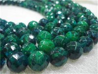"""Wholesale Wholesale Azurite - 8mm Faceted Azurite Chrysocolla Gems Round Faceted 15"""""""