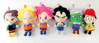 Wholesale Dragon Ball Z Plush - 7inch(18cm)Dragon Ball Z Plush Doll Pendant Toys Super Saiyan Goku  Piccolo Trunks Figure Plush Doll Toys with tag