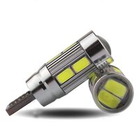 projetores venda por atacado-menor preço sinal de luzes Apuramento Power Plate 5W T10 Car alta Largura Luz Xenon LED Branco CANBUS 10SMD 5730 Cree lente do projetor