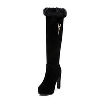 Wholesale Europ Style - Real rabbit fur boots with new winter frosted leather round head their Japanese and Korean style boot The favorite of the most popular Europ
