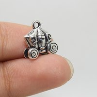 Wholesale Antique Carriage - 15pcs--15x14mm Antique silver tone Carriage pendant