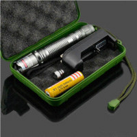 Brûler High Power pointeur laser vert lampe de poche rechargeable extérieure Laser Light Pen w / 5 Head Starry + 18650 Batterie + Chargeur