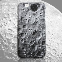 Barato Casos 3d Populares Do Iphone-Superfície da Lua iPhone Case Capa para 3D 6 / 6s I5 / 5S iPhone 6 mais 6s além de New Design Caso Popular Hot Sale