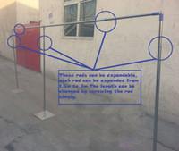 stab steht großhandel-3x6m (10feet x20feet) Hochzeitshintergrund stehen Hochzeitsvorhang Rohr mit angepassten Pol drapieren Rahmen mit Teleskopstangen