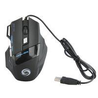 usbrad großhandel-Computer Mäuse 3200 DPI LED Optical 7 Tasten mit Scrollrad USB Wired Gaming Spiel Maus 3200 DPI Pro Gamer Mäuse Für PC