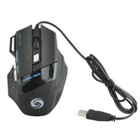 Wholesale Pc Game Wheels - Computer Mice 3200DPI LED Optical 7 buttons with scroll wheel USB Wired Gaming Game Mouse 3200 DPI Pro Gamer Mice For PC