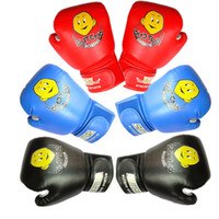 Wholesale Cartoon Train Box - NEW Cartoon Child Boxing Gloves 1 Pair Durable Sparring Kick Fight High Quality Gloves Training Sanda Fists PU Leather Muay Sandbag 2501047