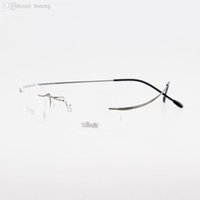 Wholesale Titanium Eyeglasses For Women - Wholesale-rimless titanium glasses non-screw silhouette titanium eyeglasses glasses high quality optical frame for man or women e1051