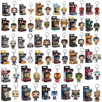Wholesale Deadpool Marvel Heroes - Funko POP Marvel Super Hero Harley Quinn Deadpool Harry Potter Goku Spiderman Joker Game of Thrones Figurines Toy Keychain OTH030