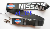 Wholesale Nissan Card - Wholesale hot sale new 10pcs NISSAN Cars Logo lanyard Neck Strap Employee's card hanging rope Lanyard