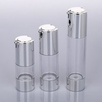Wholesale 15ml airless cosmetic bottles - 15ml 30ml 50ml airless bottle with uv silver vacuum pump or lotion bottle used for Cosmetic Container F20171998