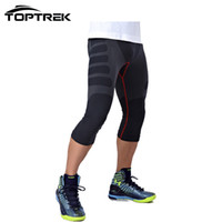 Wholesale Tight Pants For Men - Wholesale-Toptrek Clothes Men Tight Calf-Length Pants Quick Dry Light Compression For Outside wears
