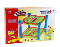 Wholesale international chess - Wholesale- Children Connect 4 Launchers game for 2 player Ball shoot board game