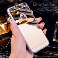 Wholesale S4 Case Chrome - TPU Mirror Chrome Case For iPhone 5S SE 6 Plus Galaxy S4 S5 S6 S7 edge Note 4 5 LG G3 G4 V10