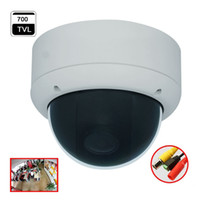 Wholesale Security Cameras Vandal Proof Dome - 180 Degree Wide Angle Fisheye Analog Dome Camera 700tvl CCD Effio CCTV Camera Security System Product