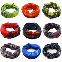 Wholesale Bike Bandana Scarf - 100% Polyester Microfiber Fishing Bandana Seamless Tubular Bandana Bike Neck Tube Scarf 24*49cm Cycling Headband Deportivas