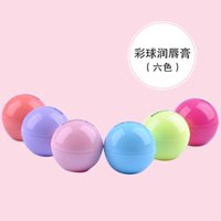 Wholesale New hot D Lipstick New Makeup Round Ball Moisturizing lip balm Natural Plant Sphere lip Pomade lip balm Fruit Embellish lip Care