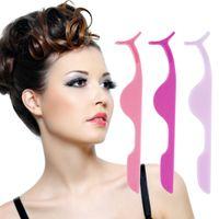 Wholesale Eyelashes Auxiliary Clip Tweezers - 2016 Multifunctional False Eyelashes Plastic Auxiliary Clip Tweezers Health and Beauty Eye Makeup Tool Hot!