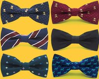 Wholesale Toddlers Neck Tie - Fashion Bowtie Boys Adjustable Self Tie Bow Ties For Kids Boy Toddler Neck Bowtie Shirt Banquet Tie multi-style