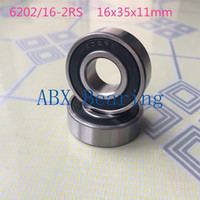 Wholesale Cnc 16mm Bearing - Wholesale- 16mm ball bearings 6202-16 2RS 6202 16-2RS 6202 bearing 16X35X11 mm CNC,Motors,Machinery,AUTO 16*35*11
