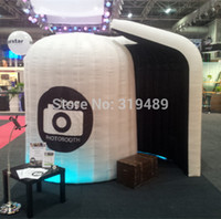 Wholesale Photo Booth Tent - Wholesale-Free Shipping Color Changing LED Lighting Tent Bar Inflatable Photo Booth