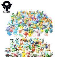 Wholesale Old Pvc Toy Wholesale - Minifigures 144Pcs Set Japan Anime Bandai Pocket Monster Pvc Figuras Manga Juguetes Kids Hot Toys for Children
