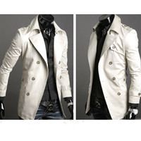 Wholesale Stylish Men Trench Coats - Fall-2015 Fashion Stylish Men's Trench Coat, Winter Jacket ,Double Breasted Coat ,Overcoat woolen Outerwear Long jaqueta S-XXL 22