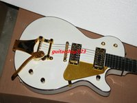 Wholesale Bigbys Jazz - Free Shipping Newest G6129 White Falcon Jazz Guitar with Bigbys High Quality Free Shipping